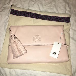 Tory Burch Thea Foldover Crossbody Pink